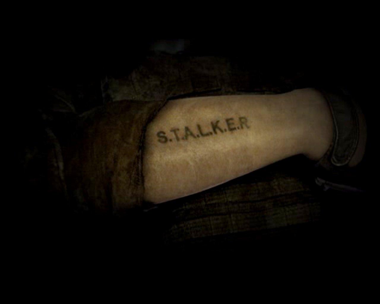 Надпись сталкер для тату